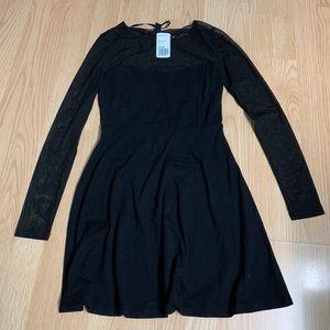 Forever 21 black skater dress. New with tag